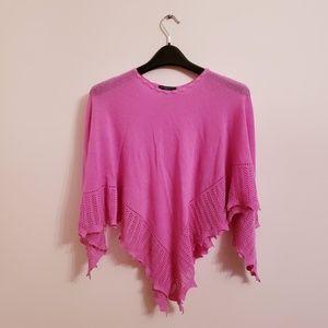 Burberry London Pink Wool/Cashmere Poncho Shawl